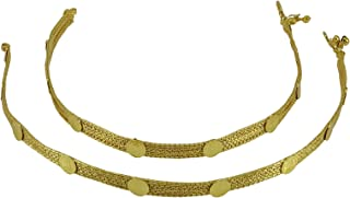 Banithani Gold Tone Traditional Queen Victoria Ginni Coins Women Party Foot Anklet Jewelry