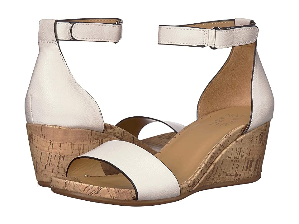 Naturalizer Areda (Alabaster Nubuck Synthetic) Women's Wedge Shoes, Beige