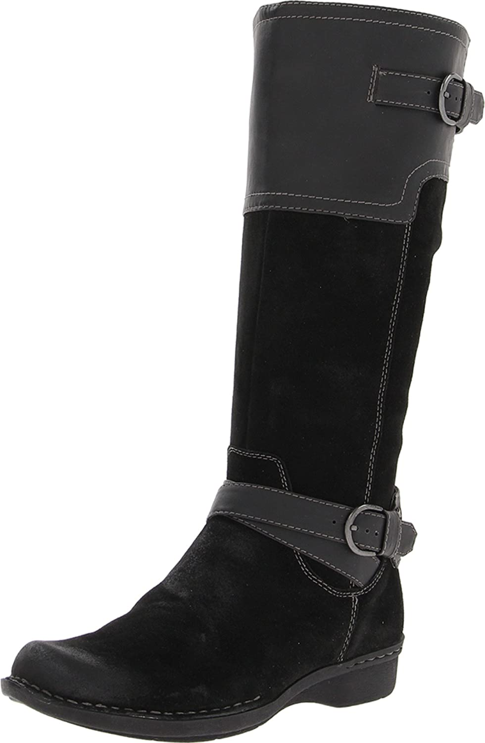 Clarks Whistle Woven Black Boots 5 ☆ very popular Tall Ladies Memphis Mall