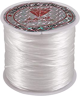 KU Syang White Elastic Stretchy Crystal Line Jewelry Beading Thread Spool 100 Meters
