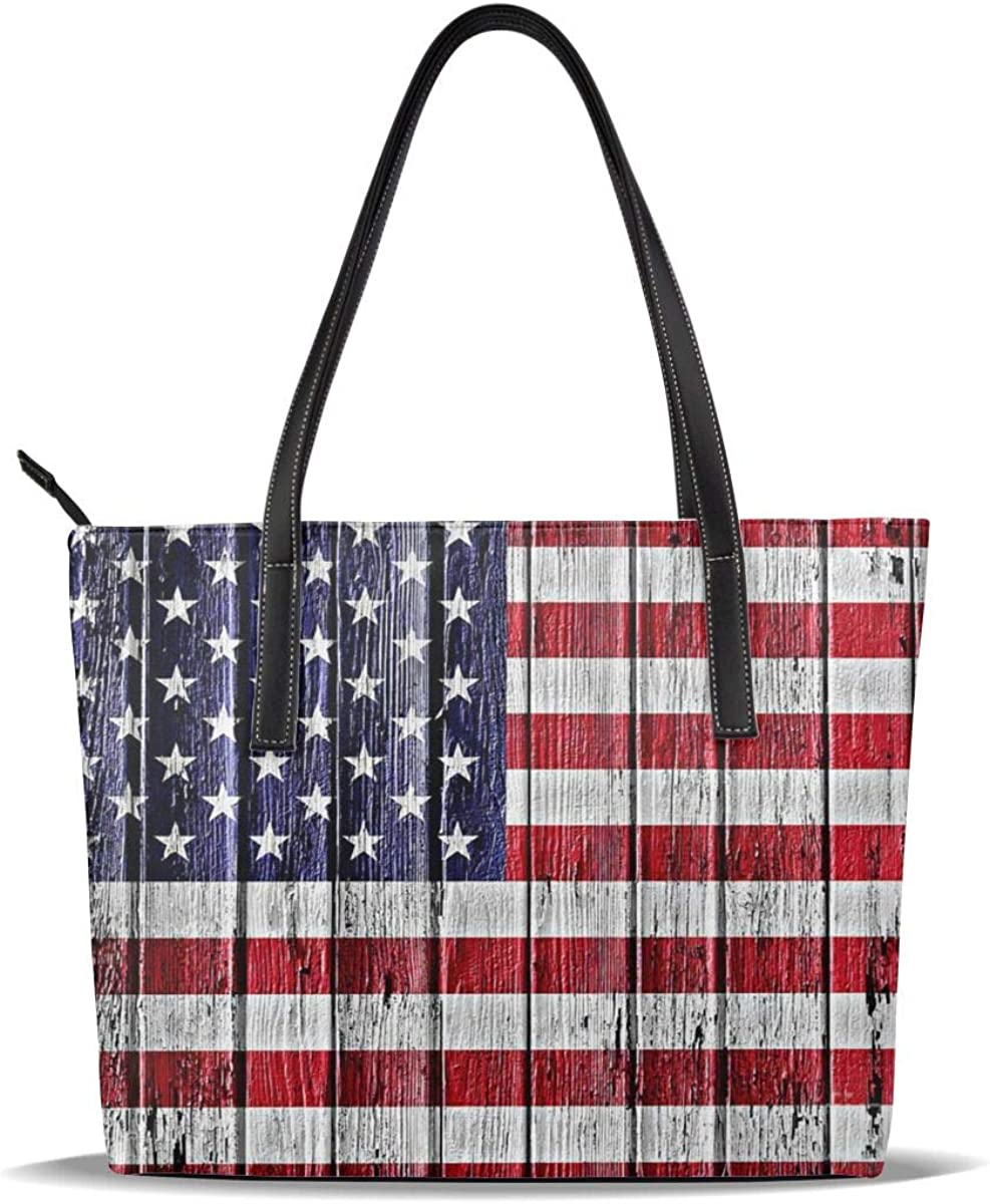 Novelty Sale SALE% OFF Old American Flag Patriot Pu Printed Leather Patt Wooden Outstanding