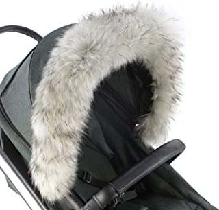 For-Your-Little-One Fur Hood Trim Pram Compatible on
