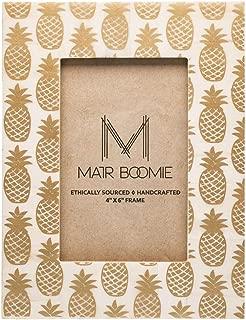 Matr Boomie Gold + White Pineapple Boho Handmade Picture/Photo Frame (4