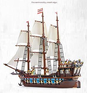 Building Blocks Multi-Functional Assembling Toys Inserting Blocks Educational Toys Pirate Ship Model