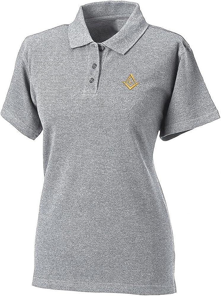 Lexiu Yibai Womens Polos Shirts Short Sleeve Masonic Lodge Embroidery Polo Shirts