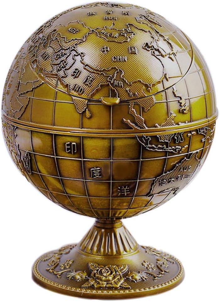 TEAYASON Regular dealer Topics on TV Metal Globe Spherical Ashtray Lid Anti-Soot with Crafts