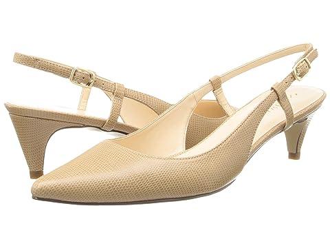 Womens Shoes Cole Haan Juliana Low Sling 45 Sandstone Lizard Print