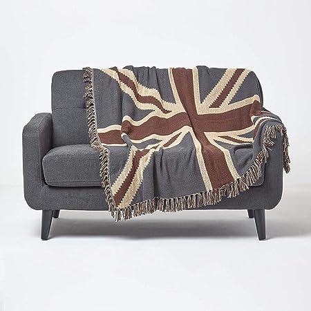 Damask Chenille Jacquard Sofa Armchair Single Bed Blanket Throw 125 X 150...