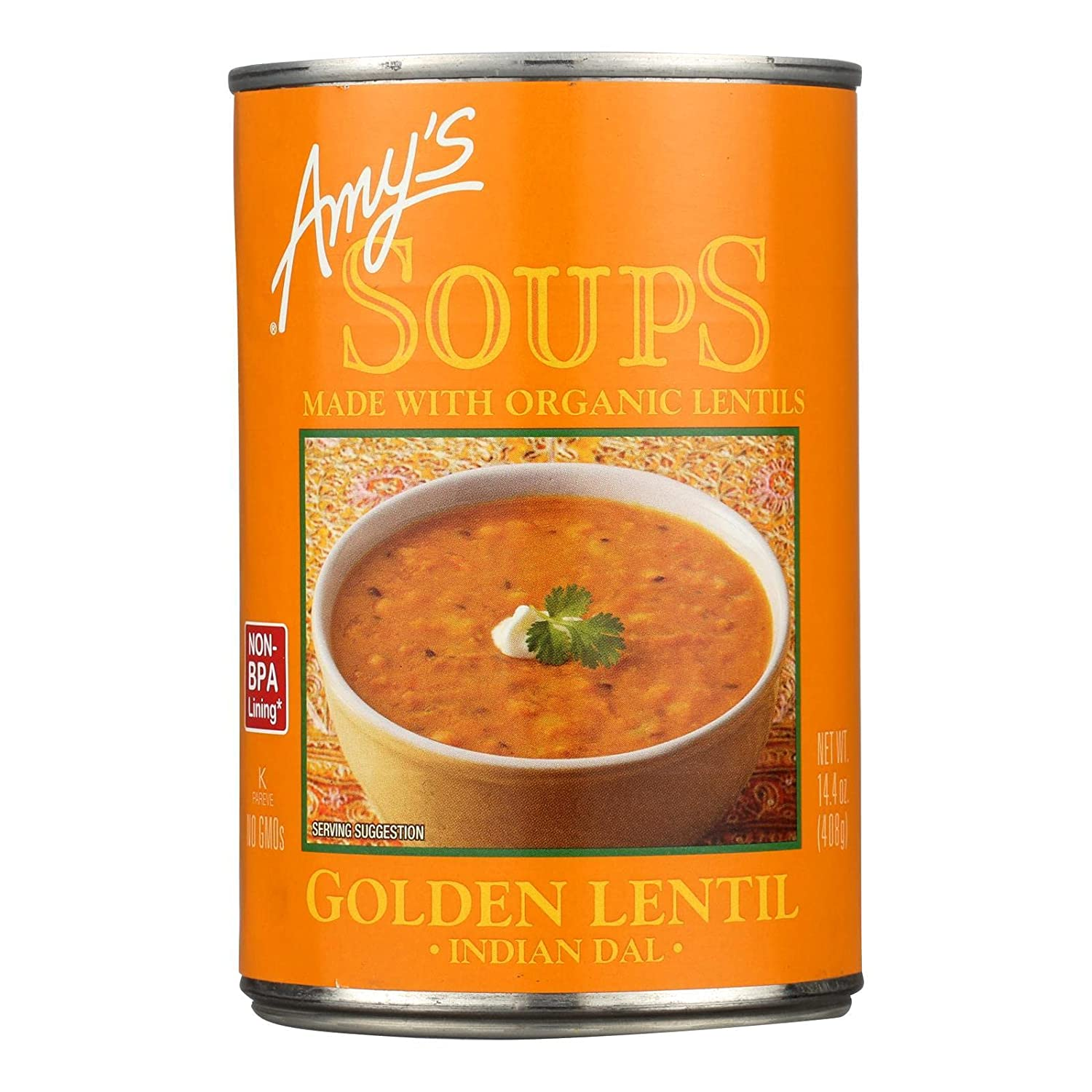 Amy's Special price for a limited time Kitchen Golden Lentil Soup 14.4-Ounce Pack 12 Cans of Overseas parallel import regular item