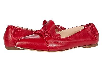 AGL Ruffle Ballet Flat (Scarlet) Women