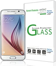 amFilm Glass Screen Protector for Galaxy S6, Tempered Glass, with complimentary PET Back Film