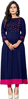Vaikunth Fabrics Women's Rayon A-Line Kurti (VFKU115)