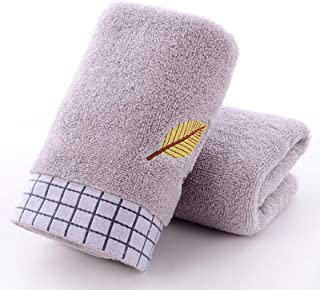 GEDUORIE 100% Cotton Bath Hand Towels Set of 2,74 X 34 CM,Face Towels Extra Soft, Absorbency and Fade Resistant,Quick Dry,...