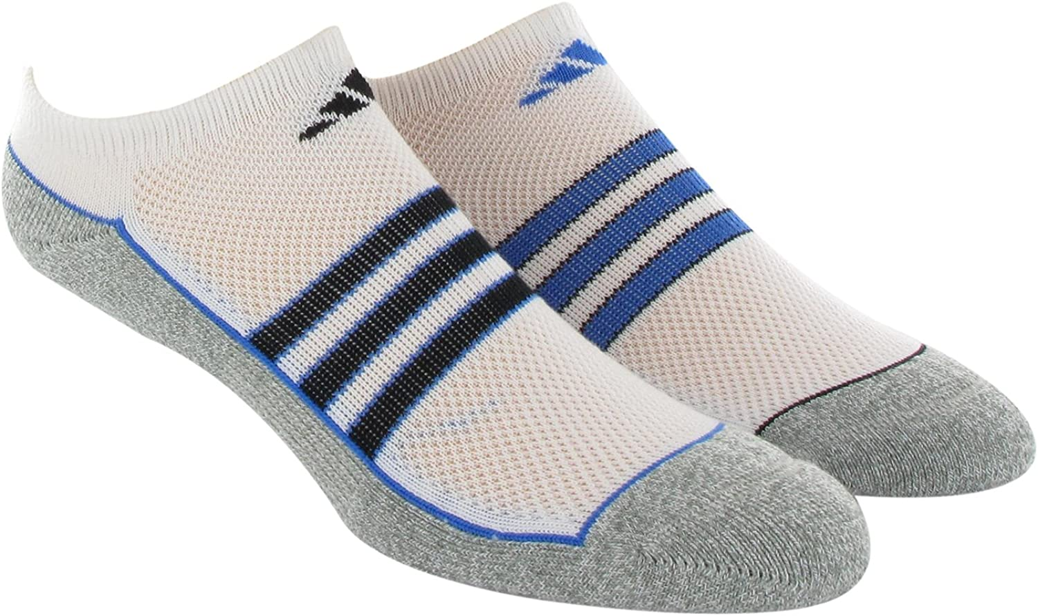 adidas Boy's Youth Climalite No Show Sock (Pack of 2)