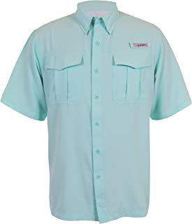 Men's Belcoast Short Sleeve River Guide Fishing Outdoor Recreation Casual Button-Down Shirts