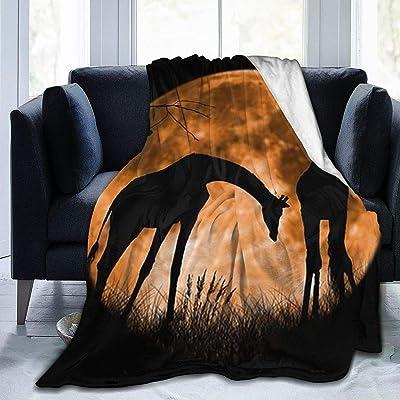 毛布 キリンムーンシャドウ ブランケット フランネル フリース 洗える プレミアム あったかい オールシーズン 暖かい おしゃれ 薄手 軽量 柔らかく肌触り