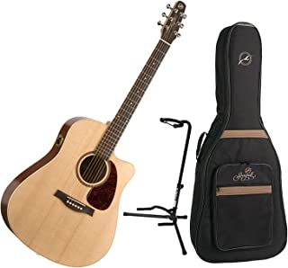 Seagull Coastline S6 Slim CW Spruce Q1 Acoustic w/Seagull Gig Bag and Guitar Stand