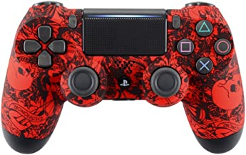 eXtremeRate Pattern Soft Touch Grip Front Housing Shell Faceplate for Playstation 4 PS4 Slim PS4 Pro Controller JDM-040 JDM-050 JDM-055 - Demons and Monsters