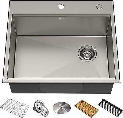 Kraus KWT311-25 KORE Kitchen Sink Single Bowl, 25 Inch
