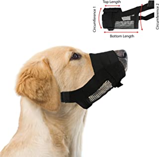 """Adjustable Dog Grooming Muzzle - Medium, fits Snout Size 6""""-7 1/2"""", by Downtown Pet Supply"""