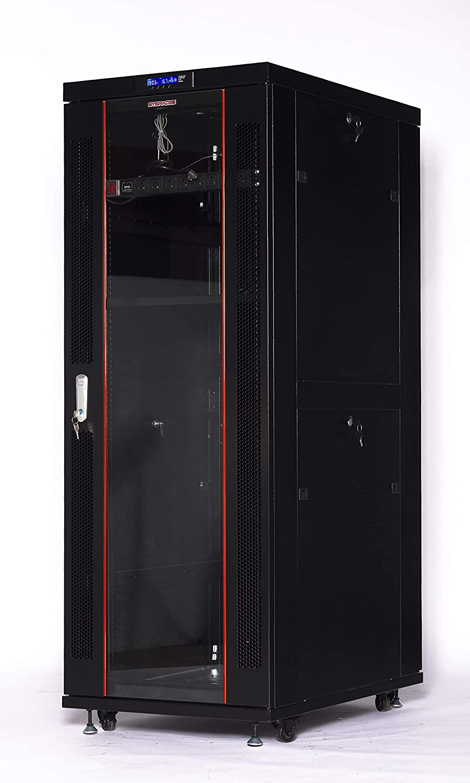32U Rack Server Cabinet 39 Inch Deep IT Data Network Enclosure (LED Screen)