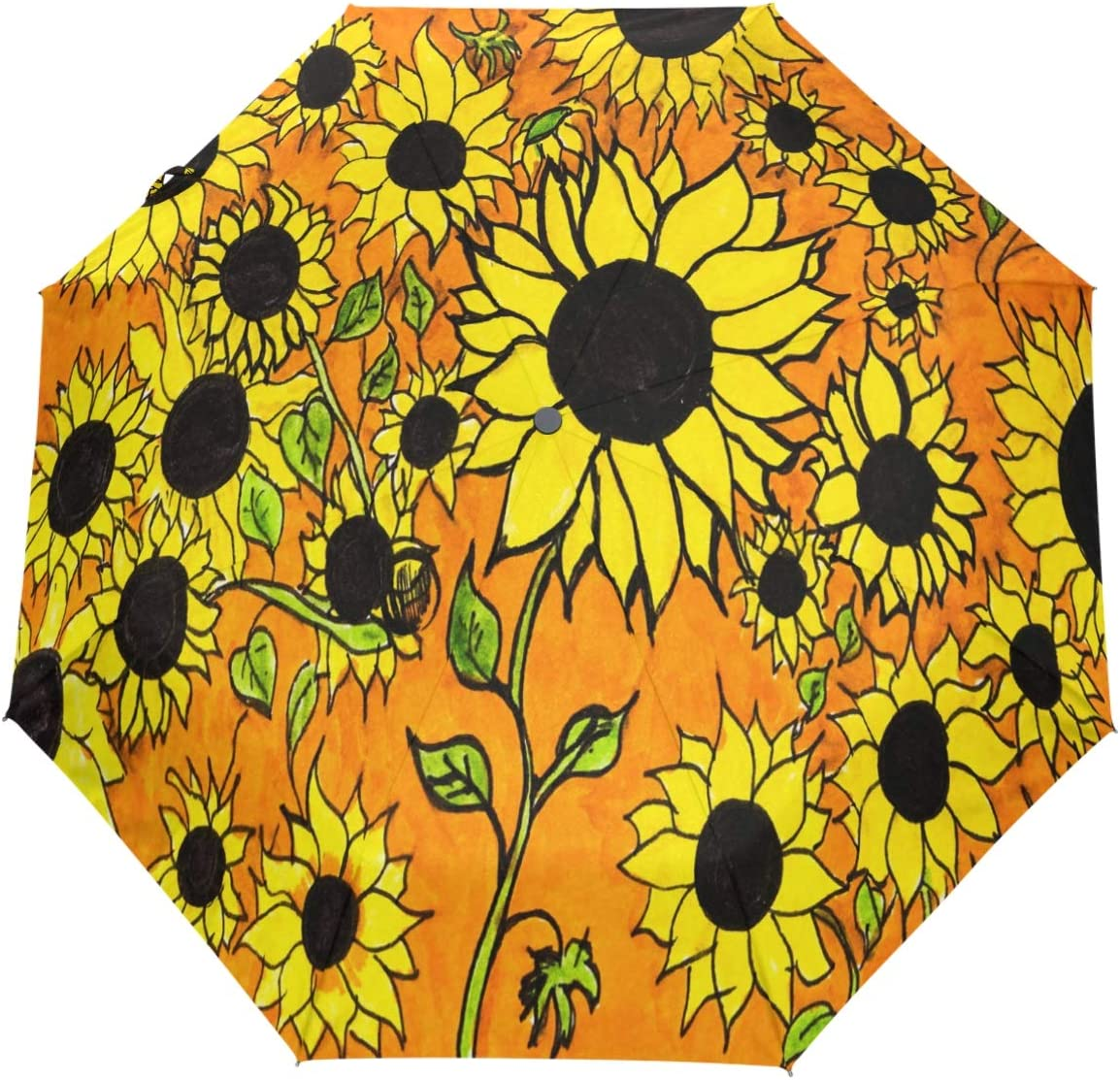 Wamika Fashionable Floral Sunflowers ! Super beauty product restock quality top! Umbrella Clos Open Flower Auto