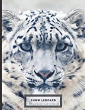 Snow Leopard 2021 calendar and notebook: Dual layout - months and College Ruled Line Paper, great gift for people who love...
