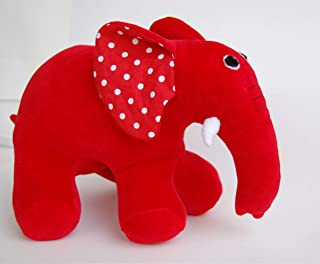 Max And Ruby Toy Red Rubber Elephant made of Plush