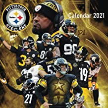 "Pittsburgh Steelers: 2021 Wall Calendar - Mini Calendar, 7""x7"", 12 Months - Team Calendar"