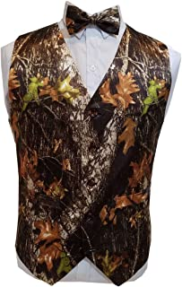 Camouflage Vests with Tie for Wedding Groom Wear Man camo Prom Vest