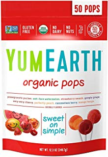 YumEarth Organic Lollipops, Assorted Flavors, 50 Lollipops (2 Pack(50 Count))