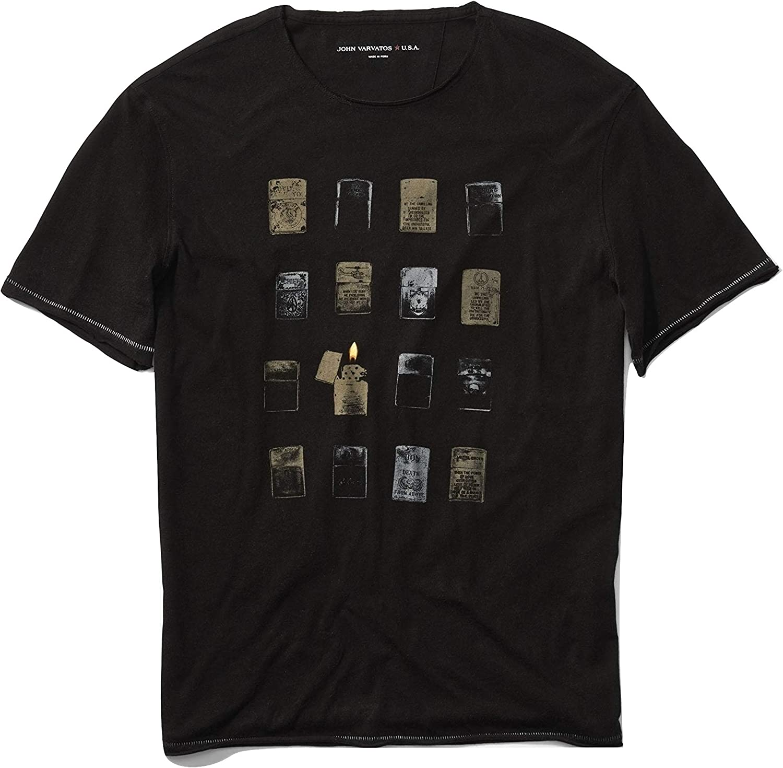 John Varvatos Men's Max 59% OFF Department store Short Sleeve T-Shir Graphic Vintage Lighters