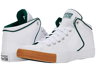 Converse Chuck Taylor All Star High Street Synthetic Leather Hi (White/Midnight Clover/Honey) Athletic Shoes