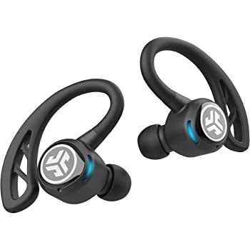 JLab Audio Epic Air Sport True Wireless Bluetooth 5 Earbuds   Headphones for Working Out, IP66 Sweatproof   10-Hour Battery Life, 60-Hour Charging Case   Music Controls   3 EQ Sound Settings   Black