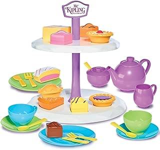 Casdon Little Cook English Tea & Cake Set Roleplay Toy, Multicolor