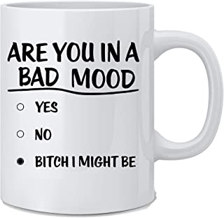 Are You In A Bad Mood - Funny Employee Novelty Mug - White 11 Oz. Coffee Mug - Great Gift for Mom, Dad, Co-Worker, Boss, Friends and Teacher by Mad Ink Fashions