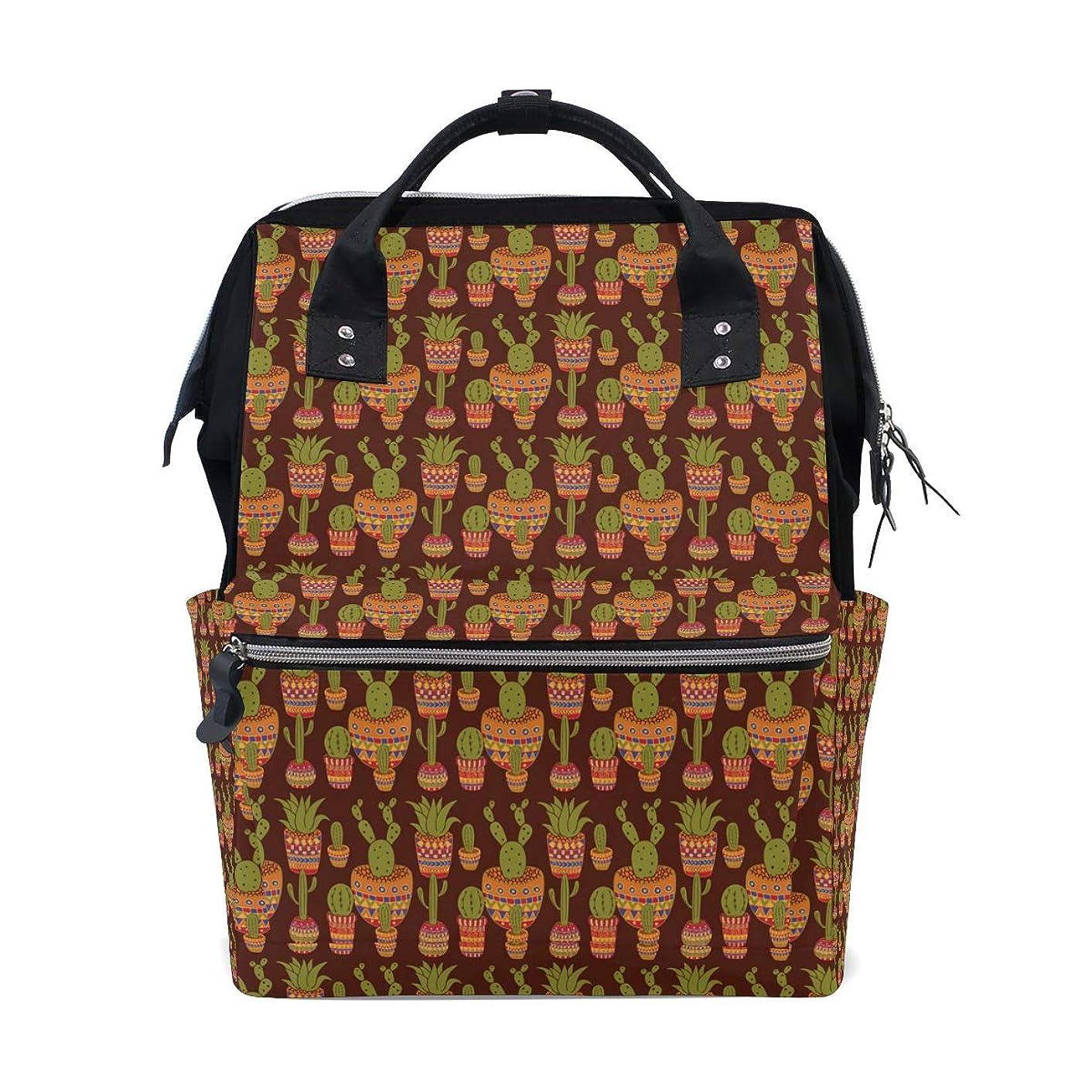Backpack Indian Tribes Cactus Pot School Rucksack Diaper Bags Travel Shoulder Large Capacity Bookbag for Women Men