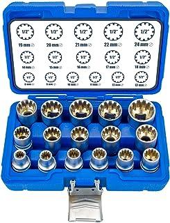 16-delad XZN Torx tum flertandsmuttrar 8-24 mm 12-punkts hylsnyckelmutter set yttre