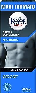 Veet For Men Crema Depilatoria per Uomo Pelli Sensibili, 400