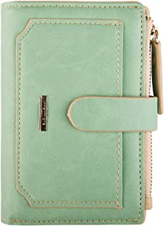 INDRESSME Womens Wallet Candy Color Bifold Mini Vintage Card Holder Compact Wallet Case for women