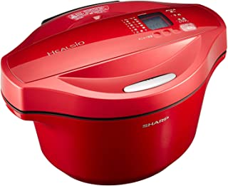 シャープ 自動調理 鍋 ヘルシオ ホットクック 2.4L 大容量 無水鍋 レッド KN-HT24B-R