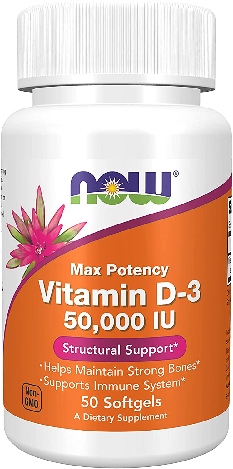 NOW Supplements Vitamin Max 61% OFF D-3 50000 50 Count Softgels IU Mail order cheap