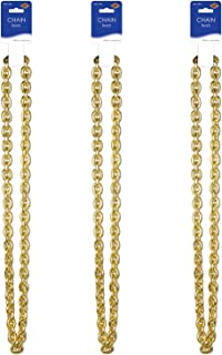 Beistle Chain Beads 3 Piece, Gold