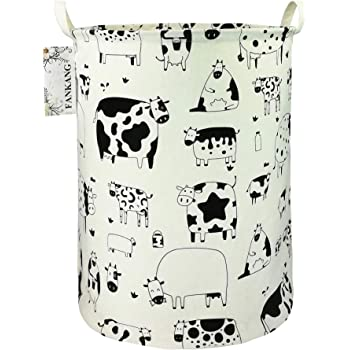 Cfauiry Collapsible Laundry Basket With Handle Polka Dot Cow Portable Foldable Laundry Hamper Holder Cloth Hamper Hampers Toys Games