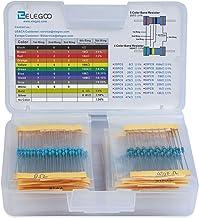 Elegoo 17 Values 1% Resistor Kit Assortment, 0 Ohm-1M Ohm (Pack of 525) RoHS Compliant