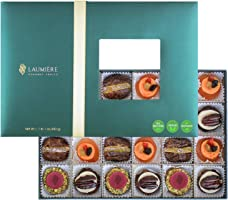 Le Cadeau Parfait Collection | Rectangle Box (24 Pcs.) | Healthy Gifts, Dried Fruits & Nuts Gift Basket, Gourmet Snack |...
