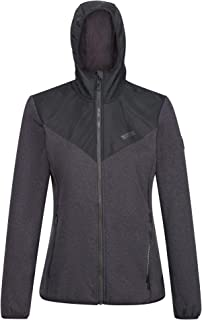 Regatta Women's Upham Hooded Hybrid Softshell Jacket with Zipped Pockets, Black/Black, 18