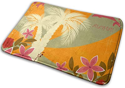 "Vintage Hawaiian PostcardDoormat Rug Indoor Bathroom Kitchen Absorbent Non-Slip Door Mats Home Decor 23.6""(L) x 15.7""(W)"