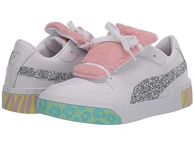 PUMA Cali Faux Fur Sophia Webster Sneaker (Puma White/Metallic Silver) Women