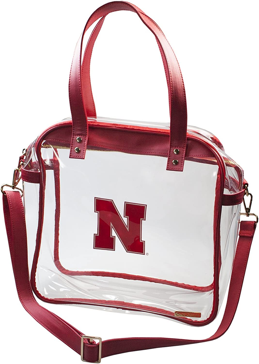University of Nebraska Huskers Capri Designs Clearly Fashion Licensed Clear Carry All Tote Meets Stadium Requirements